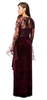 ARIELLA - Ivona Burgundy Velvet Gown - Designer Dress hire
