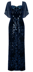 ARIELLA - Tala Sequin Velvet Gown - Designer Dress Hire