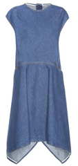BALENCIAGA - Denim Asymmetrical  Dress - Designer Dress Hire