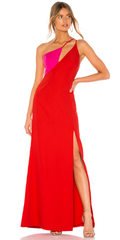 BCBGMAXAZRIA - Colorblock Gown - Designer Dress Hire