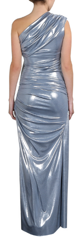 GORGEOUS COUTURE - The Bailey Maxi Silver - Designer Dress hire