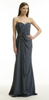 ARIELLA - Ava Chiffon Gown Silver - Designer Dress hire