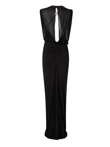 NICOLE MILLER - Riley Gown Black - Designer Dress hire