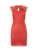 DARK PINK - Fringe Maxi Dress - Designer Dress hire