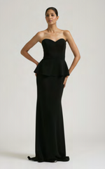 BADGLEY MISCHKA - Odessa Peplum Gown - Rent Designer Dresses at Girl Meets Dress