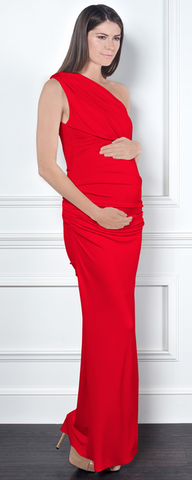 GORGEOUS COUTURE - Bailey Maxi Maternity Red - Designer Dress hire