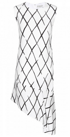 BALENCIAGA - Graphic Frill Dress - Designer Dress hire