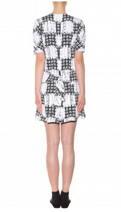 BALENCIAGA - Monochrome Silk Dress - Designer Dress hire