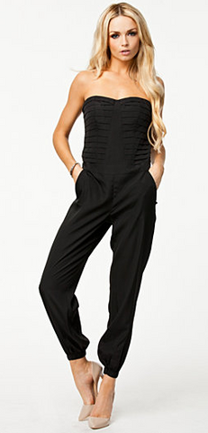 BEBE - Pleated Bodice Jumpsuit - Designer Dress hire