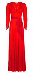 BEULAH - Red Isadora Gown - Designer Dress Hire