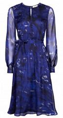 BEULAH - Sabitri Dress Navy Rose - Designer Dress Hire