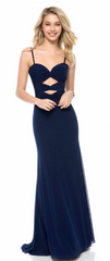 SHERRI HILL - Heart Royal Blue Dress - Designer Dress Hire
