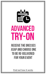 -- - Advance Try On - Designer Dress Hire