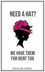 -- - Hats - Designer Dress Hire