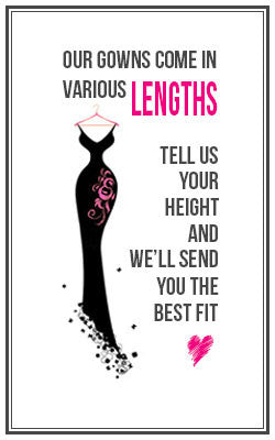 -- - Length - Designer Dress hire