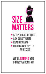 -- - Size Matters - Designer Dress Hire
