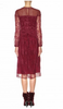 BURBERRY LONDON - Red Lacework Dress - Designer Dress hire