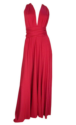 BUTTER BY NADIA - Jersey Gown Red - Designer Dress hire
