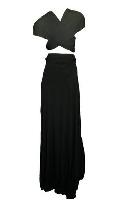 Butter by Nadia Longer Jersey gown black @girlmeetsdress