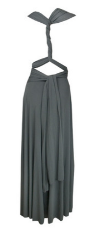 Butter by Nadia - Jersey Gown Charcoal - Designer Dress hire
