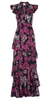 QUIZ - Berry Bardot Fishtail Dress - Designer Dress hire