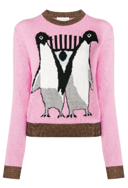 CHIARA FERRAGNI - Pink Penguin Jumper - Designer Dress hire