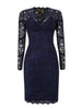 BCBGMAXAZRIA - Black Lace Gown - Designer Dress hire
