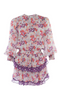 HOPE AND IVY - Patchwork Ruffle Dress - Designer Dress hire
