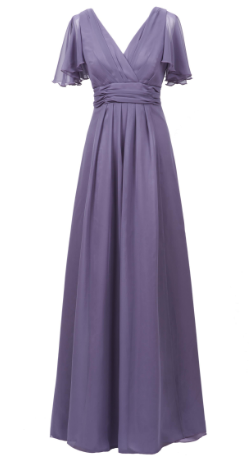 MAIDS TO MEASURE - Caroline Gown Grape - Designer Dress hire
