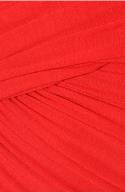 CARVEN - Red Draped Dress - Designer Dress hire