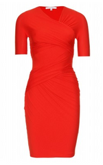 CARVEN - Red Draped Dress - Rent Designer Dresses at Girl Meets Dress