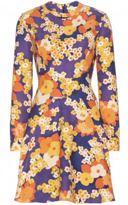 CARVEN - Retro Floral Dress - Designer Dress hire