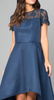 CHI CHI LONDON - Lace Navy Dip Hem Dress - Designer Dress hire