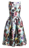MARCHESA NOTTE - Floral 3D Cocktail Dress - Designer Dress hire