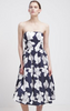 CHI CHI LONDON - Blue Flower Strapless Dress - Designer Dress hire