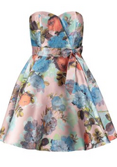 CHI CHI LONDON - Pink Flower Mini Dress - Designer Dress Hire