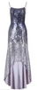 HOTSQUASH - Silky Silver Cowl Gown - Designer Dress hire