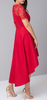 CHI CHI LONDON - Lace Red Dip Hem Dress - Designer Dress hire