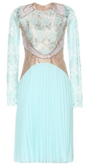 CHRISTOPHER KANE - Turquoise Pleated Dress - Designer Dress Hire