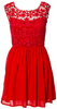 GORGEOUS COUTURE - Norah Midi Dress Red - Designer Dress hire