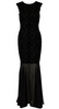 HOTSQUASH - V Sequin Red Black Gown - Designer Dress hire