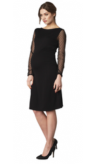CRAVE MATERNITY - Sheer Spot Maternity Dress - Designer Dress Hire