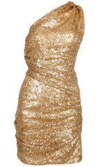 DIVA SOPHIA - Lorenza Gold Dress - Designer Dress Hire