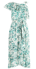 BH - Marie Ruffle Midi Dress - Rent Designer Dresses at Girl Meets Dress