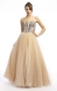 QUIZ - Champagne Sequin Fishtail Gown - Designer Dress hire
