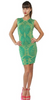 EKATERINA KUKHAREVA - Green Jacquard Knit Dress - Designer Dress hire