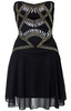 JASMINE DI MILO - Cold Shoulder Silk Dress - Designer Dress hire