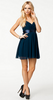 ELISE RYAN - Tie Back Ruched Dress - Designer Dress hire
