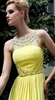 ELLIOT CLAIRE - Yellow Pleated Gown - Designer Dress hire