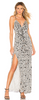 MATTEO - Nikki Gold Sequin Dress - Designer Dress hire